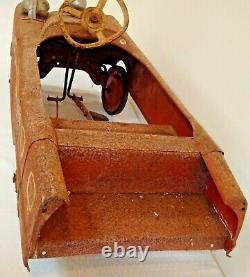 Vintage 1960s AMF Metal Pedal Car FIRE CHIEF Original Barn Find Estate Bell RARE