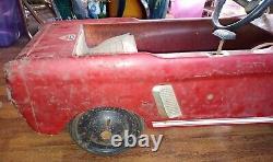Vintage 1960s Mustang 535 AMF Metal Pedal Car FORD Original