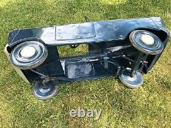 Vintage 1960s TRI-ANG Police FLYING SQUAD Metal PEDAL CAR Ford BRITISH Triang