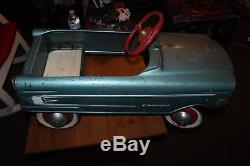 Vintage 1962 1963 Murray Metal Charger Pedal Car BLUE Working ALL ORIGINAL