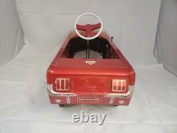 Vintage 1964 AMF Junior Red Metal Mustang Pedal Car Toy Original Sold As Is