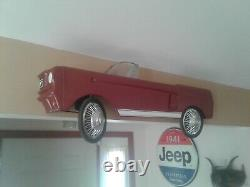 Vintage 1964 Custom AMF Junior Mustang Toy Pedal Car WALL HANGER 1 OF A KIND