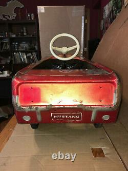 Vintage 1966 AMF Junior Ford Mustang Pedal Car