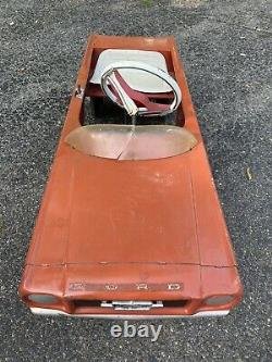 Vintage 1966 AMF Junior Ford Mustang Pedal Car 1960s Hot Rod Shelby Race Car
