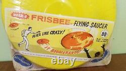 Vintage 1966 Wham-O Frisbee Flying Saucer No. 132 In Original Shrink Wrap