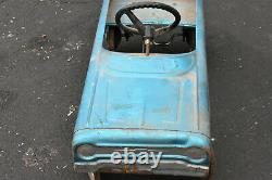 Vintage 1970 AMF PINTO Blue Version Pedal Car Local Pick Up 17003
