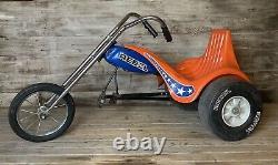 Vintage 1970s AMF JUNIOR REBEL CHOPPER TRIKE Dukes Evel Knievel Pedal Car