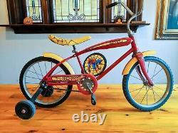 Vintage 1978 Spider-Man AMF Junior Bike Bicycle Complete withTank Decals Excellent