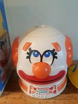 Vintage 1978 Wham-o Fun Fountain Sprinkler With Original Box Clown Head Summer