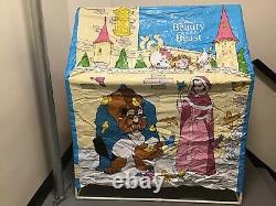 Vintage 1980s ERO Disney Beauty & The Beast Slumber Kids Tent Playhouse HTF Rare