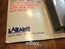 Vintage 1980s Larami Motorized UZI Water Squirt Machine Gun Battery-Op. NEW