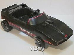 Vintage 1982 Knight Rider Coleco Knight 2000 KITT Pedal Car