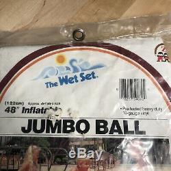 Vintage 1983 Intex The Wet Set 48 Jumbo Ball Inflatable Vinyl Beach Ball 59070