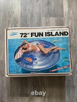 Vintage 1987 Intex 72 Fun Island Inflatable Swimming Pool Raft New In Box