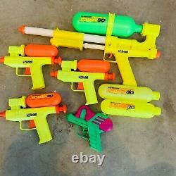 Vintage 1989 1990 Super Soaker Lot LARAMI 20 30 50 toy water guns
