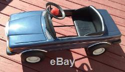 Vintage 1989 Mercedes 500SEL Pedal Car Ride On Metal- Beautiful Condition