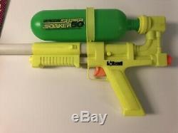 Vintage 1990 Larami SUPER SOAKER 50 Blaster Water Gun Squirt works Tank Lot