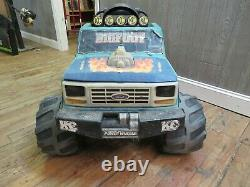 Vintage 1990 Power Wheels Bigfoot Big Foot Ford Monster Truck Ride On Toy