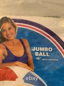 Vintage 1994 Intex The Wet Set 48 Jumbo Ball Inflatable Vinyl Beach Ball 59070