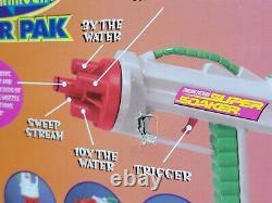 Vintage 1998 Larami Super Soaker Power Pak Water Squirt Gun Backpack Damaged Box