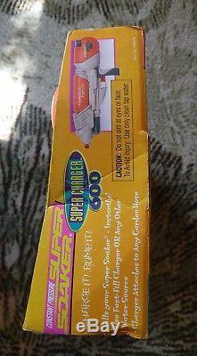 Vintage 1998 SUPER SOAKER Super Charger 500 & 600 Water Gun Larami NIB set
