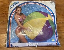 Vintage 2000 Intex The Wet Set 48 Jumbo Ball Inflatable Vinyl Beach Ball 59070
