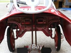 Vintage 50's 60's Murray Fire Truck Pedal Car