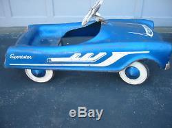 Vintage 50's Era All Original Midwest Sportster Pedal Car Original Owner Nice