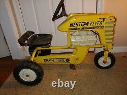 Vintage 60's/70's Rare HTF Western Flyer 502 Chain Drive Pedal Car Farm Tractor