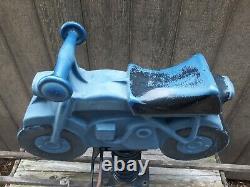 Vintage 60s Cast Aluminum Saddle Mates Mini Bike Playground Spring Ride Made USA