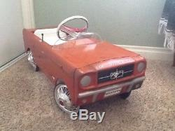 Vintage 60s Ford Mustang Pedal Car