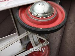 Vintage 60s Murray Charger Pedal Car, White Original