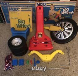 Vintage 70s Original Marx Big Wheel Ride On Toy Tricycle Metal Fork Collectible