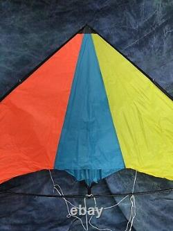 Vintage 8 Dual Line Delta Sport Stunt Kite With Line, Handles & Bag Mint