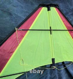Vintage 8 Dual Line Delta Stunt Sport Kite With Line, Handles & Bag USA Mint