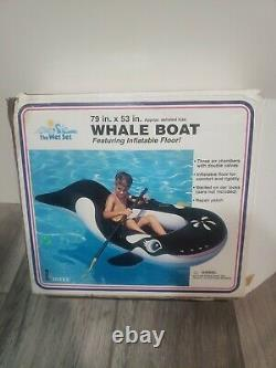 Vintage 90's Intex The Wet Set Orca Whale Ride In Inflatable 79 x 53 #58371