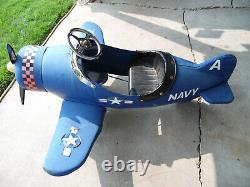 Vintage AFC A22 Navy Airplane Childs Pedal Car 3261