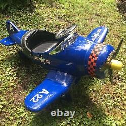 Vintage AFC A22 Navy Pedal Airplane Car