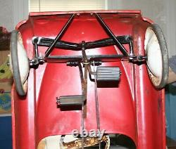 Vintage AMF Fire Chief Pedal Car 1950's / Works / No Bell