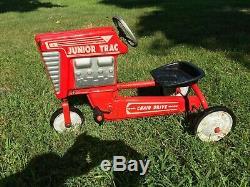 Vintage AMF JUNIOR TRAC 493 Chain Drive Metal Pedal Tractor Original condition