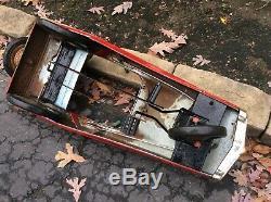 Vintage. AMF PROBE 3 Pedal Car- Old Repaint Great Metal Works Very Good