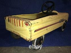 Vintage AMF Pacer Pedal Car Metal Yellow COOL! FREE SHIPPING