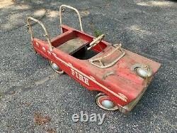Vintage AMF Pedal Car Fire Truck