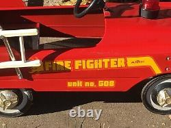 Vintage AMF Pedal Firetruck Car Fire Fighter Unit No 508