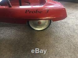 Vintage AMF Probe 3 Pedal Car 1970 Childs Ride Toy