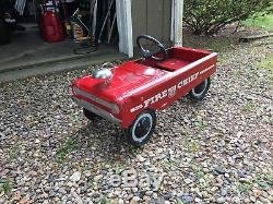 Vintage AMF Red Fire Chief Pedal Car Number 503