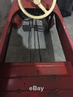Vintage AMF Red Fire Chief Pedal Car Number 503, Antique, Near Mint