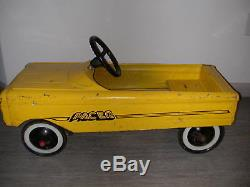 Vintage AMF yellow PACER Pedal CarMetal Collectible Riding Hot Rod Automobile