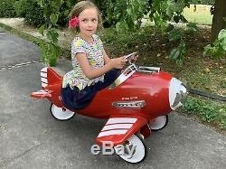 Vintage Air Knight Pursuit Plane Pedal Car Complete