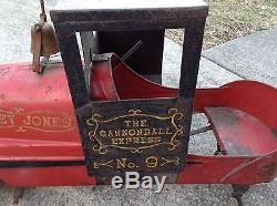 Vintage All Original Casey Jones Cannonball Express Pedal Car Train Railroad